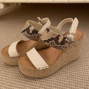 Dolce vita snakeskin wedges very lightly worn